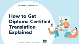 How to Get Diploma Certified Translation Explained