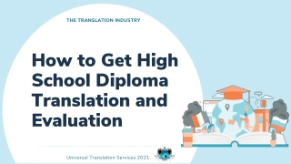 How To Get High School Diploma Translation And Evaluation