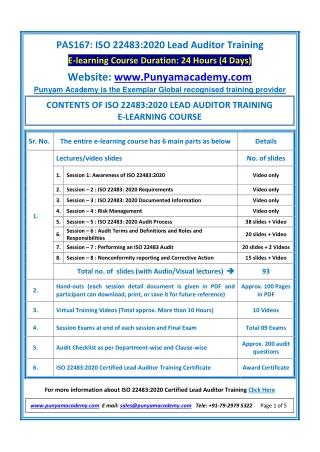 ISO 22483 Lead Auditor Training