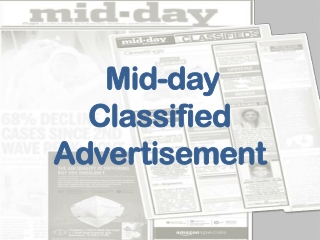 Mid-day Newspaper Classified Ad Booking