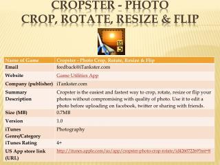 Cropster - Photo Crop