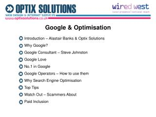 Google & Optimisation