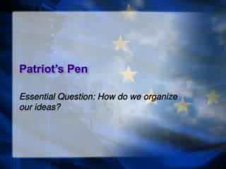 Patriot's Pen