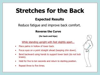 Stretches for the Back