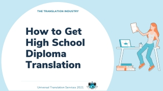 How to Get High School Diploma Translation