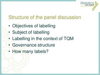 Structure of the panel discussion