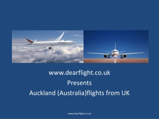Cheap flights to Auckland from UK