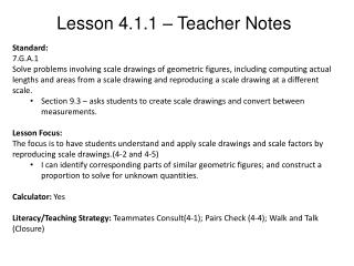 Lesson 4.1.1 – Teacher Notes