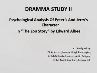 analysis of pleasantville and the zoo story The zoo story questions and answers the question and answer section for the zoo story is a great resource to ask questions, find answers, and discuss the novel.