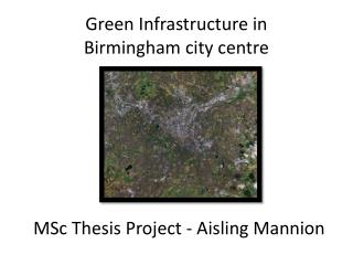 MSc Thesis Project - Aisling Mannion