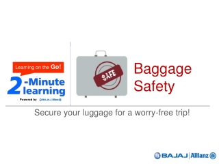 Baggage Safety - online travel insurance