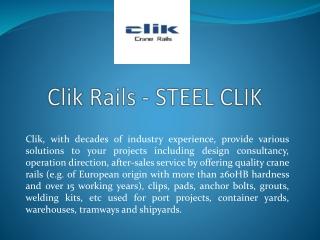 Best Crane Rail Manufacturer in China