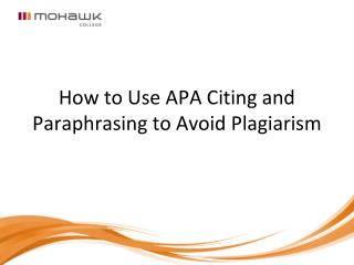 How to Use APA Citing and Paraphrasing to Avoid Plagiarism