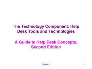 The Technology Component: Help Desk Tools and Technologies