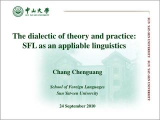 The dialectic of theory and practice: SFL as an appliable linguistics