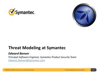 Threat Modeling at Symantec