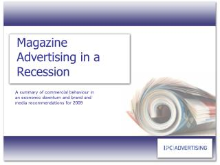 Magazine Advertising in a Recession