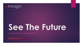 See The Future - Enago's virtual conference 2021