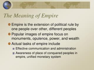 The Meaning of Empire