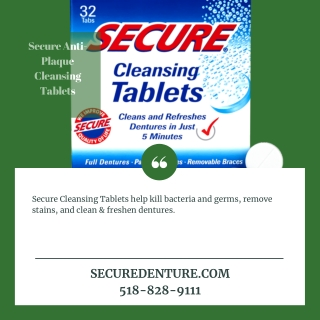 Secure Anti-Plaque Cleansing Tablets