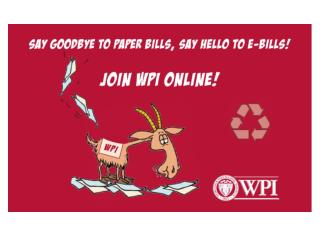 WPI e-Billing & e-Payment