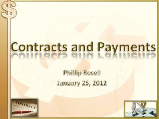 Contracts and Payments