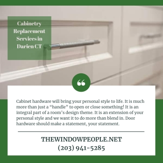 Cabinetry Replacement Services in Darien CT