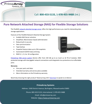 Pure Network Attached Storage (NAS) for Flexible Storage Solutions