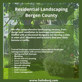 Residential Landscaping Bergen County