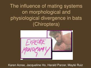 The influence of mating systems on morphological and physiological divergence in bats (Chiroptera)