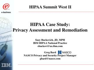 HIPAA Summit West II