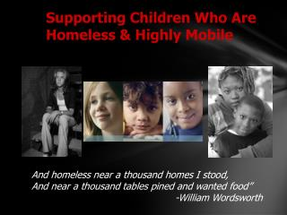 Supporting Children Who Are Homeless & Highly Mobile