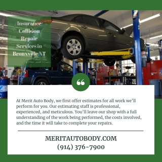 Insurance Collision Repair Services in Bronxville NY