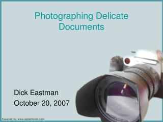 Photographing Delicate Documents