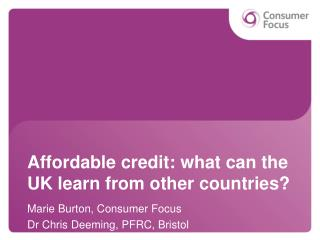 Affordable credit: what can the UK learn from other countries?