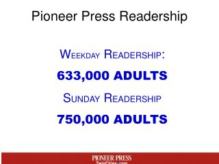 Pioneer Press Readership