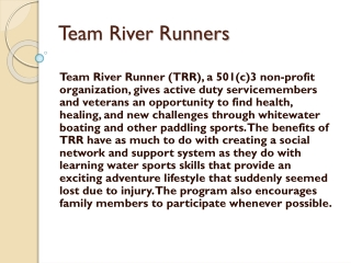 Team River Runners