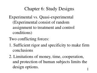 Chapter 6: Study Designs