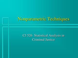 Nonparametric Techniques