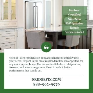 Factory Certified Sub-Zero Refrigerator Repair Services in NJ