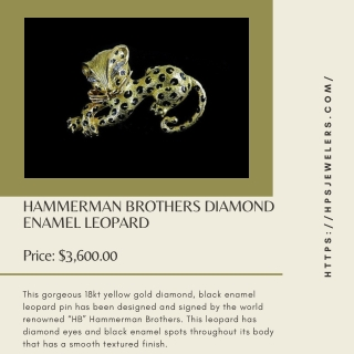HAMMERMAN BROTHERS DIAMOND ENAMEL LEOPARD