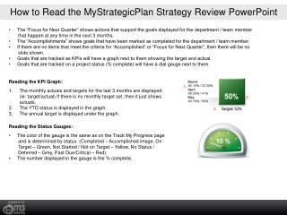 How to Read the MyStrategicPlan Strategy Review PowerPoint