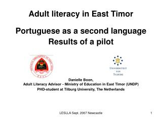 East Timor: history & languages