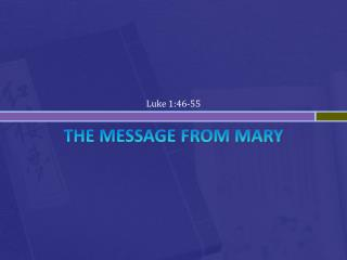 THE Message From Mary