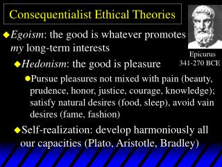 Consequentialist Ethical Theories