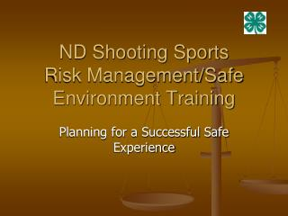 anagement/Safe Environment Training