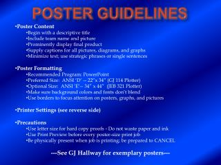 Poster Guidelines