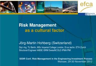 Risk Management       as a cultural factor