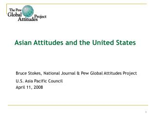 Asian Attitudes and the United States