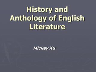 History and Anthology of English Literature